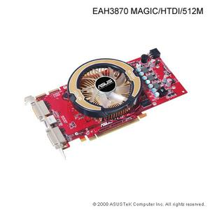 Asus EAH3870 MAGIC/HTDI, 512MB DDR3, DVI, HDMI, fan, PCIe