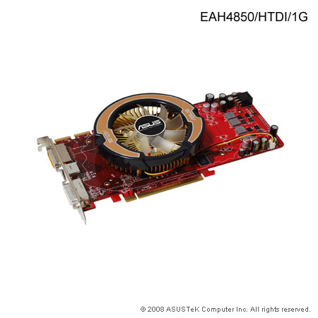 Asus EAH4850/HTDI, 1GB, DDR3, fan, PCIe