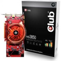 CLUB-3D HD3850 OC, 512MB DDR3, fan, PCIe