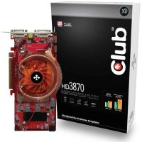 CLUB-3D HD3870, 512MB DDR4, fan, PCIe