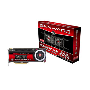 Gainward ATI HD4870X2 PCIe 2GB DDR5 750/3600MHz 2xDVI HDMI-ad. DualSlot-FAN