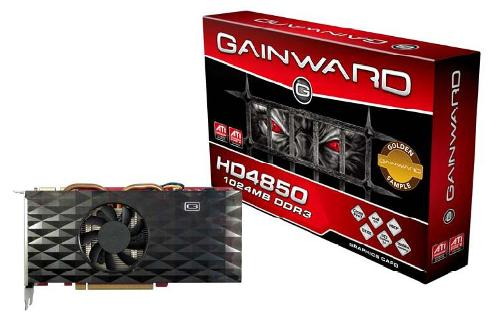 Gainward ATI HD4850 Golden Sample, 1GB, dualDVI, TVout, PCI-