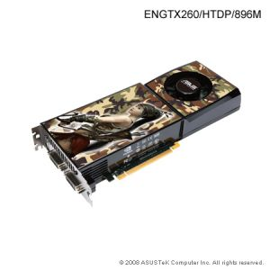 Asus ENGTX260 HTDP, 896MB DDR3, fan, PCIe
