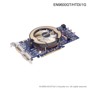Asus EN9600GT, 1GB, DDR3, fan, PCIe