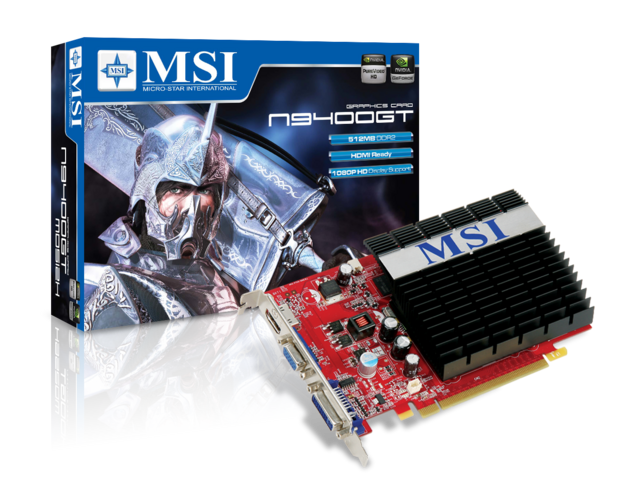 MSI N9400GT, 512MB DDR2, heatsink, PCI-e