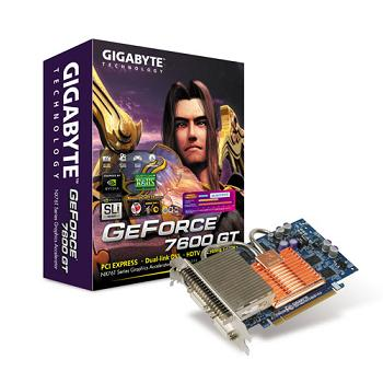 Gigabyte 7600GT Silent2, 256MB DDR3, PCIe, 2xDVI, TVout